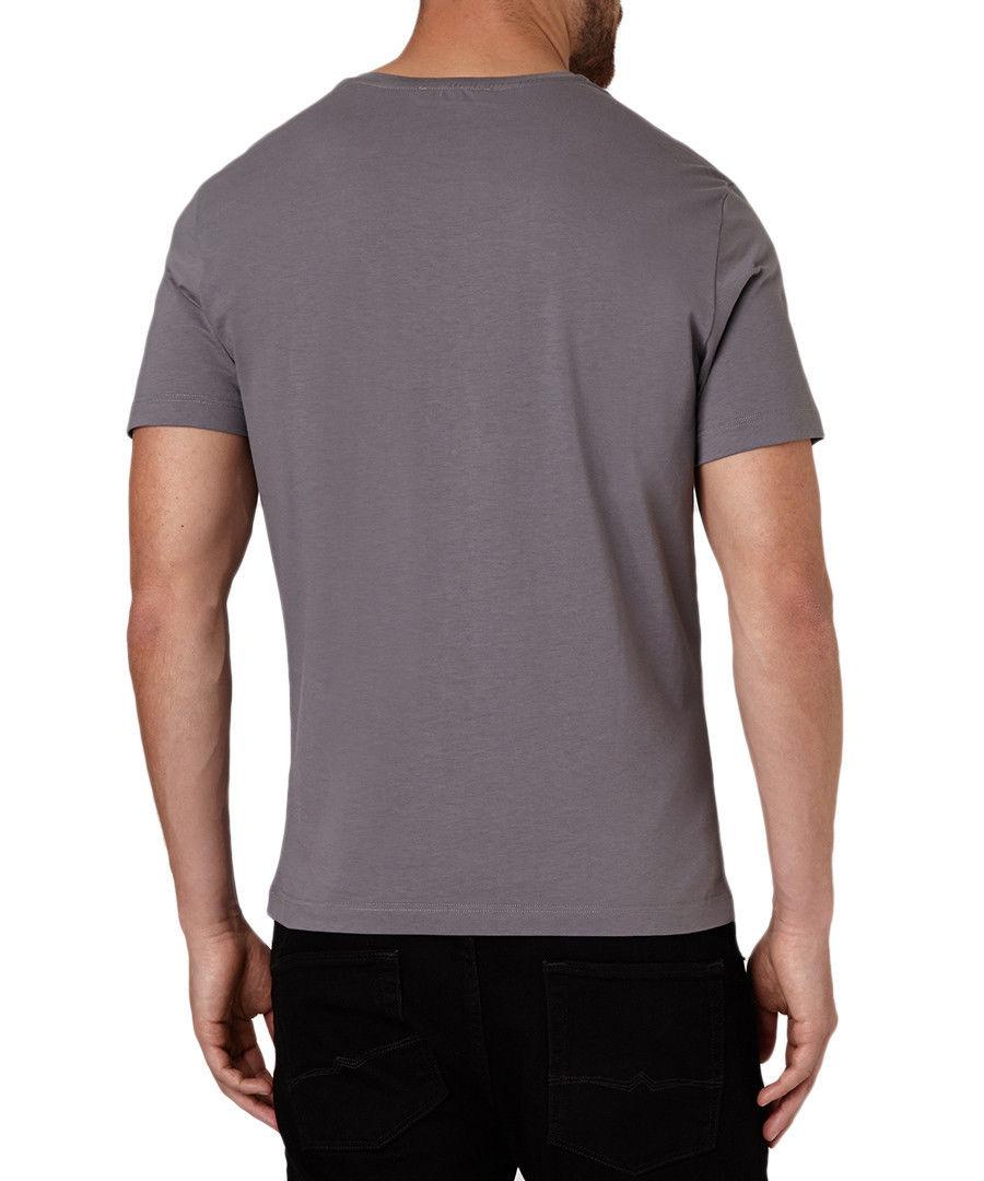 a5b5993190f VERSACE Collection Gray V-Neck Cotton Studded Medusa Short Sleeve T-Shirt