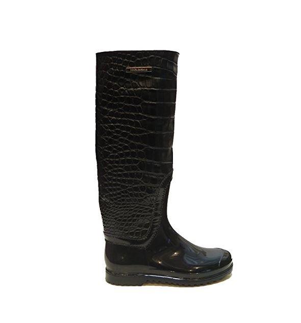 Dolce /& Gabbana Black Rain Boots 6