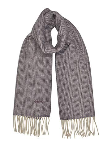 Brioni Mens Gray 100/% Silk Scarf with Fringes