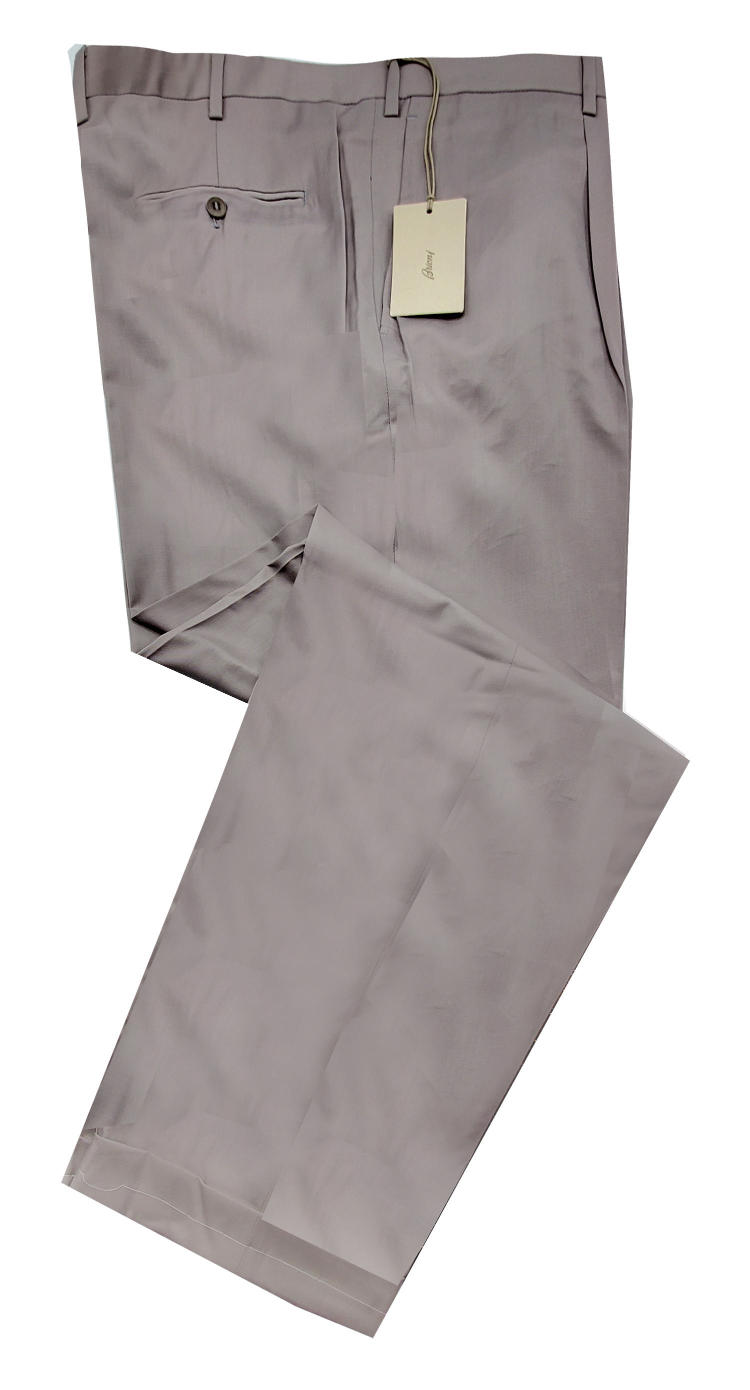 f939dbedab1df4 Brioni Men's Cortina All Season Light Gray Wool Pants | eBay
